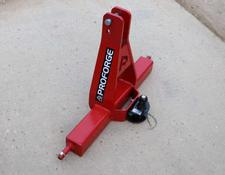 PROFORGE 3 Point Linkage Tow Hitch / Towbar Headstock, Heavy Duty Category 2, with Tow Ball and clevis