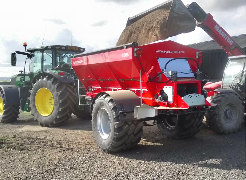 Agri-Spread lime spreader AS35 - AS150T lime fertiliser spreader