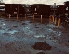 5 x 18,000 gallon 'glass forged' steel tanks